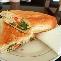 Chicken panini - for more from my year in Ghana see my blog at averysegal.com/category/ghana