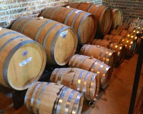 Bourbon and rye aging in the cellar