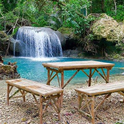 водопад Кавасан. Между третьим и вторым уровнем