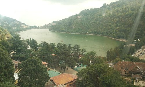 Mango shape naini lake from top of the hill