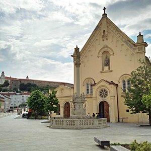 Capuchin Church, Bratislava (broader view)
