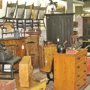 A beautiful selection of furniture and collectibles