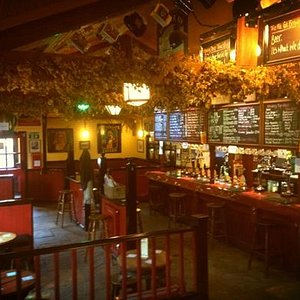 View of the pub from the Stage.