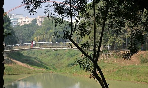 Walking bridge on the Lake Park