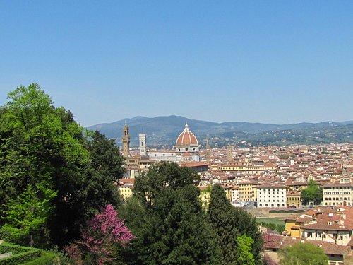 Вид на Флоренцию из сада Бардини