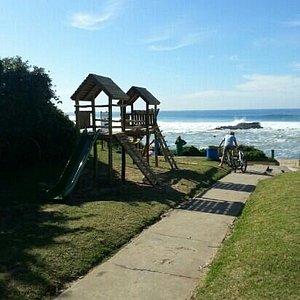 The new jungle gym's for kid on Tweni Beach