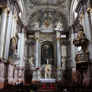 Church and Convent of St. Elisabeth - Baroque interior