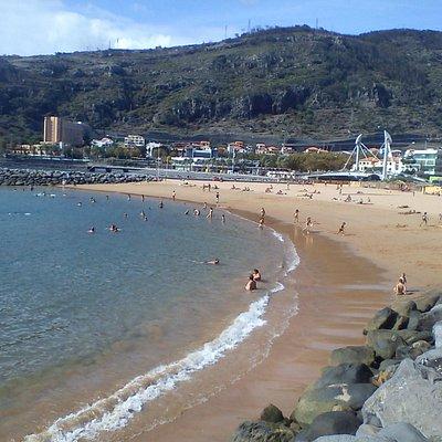 Praia de Machico, Machico, Madeira.