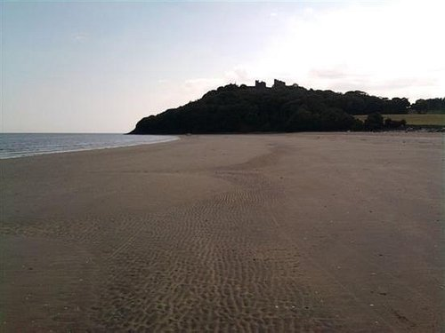 Plenty of sand in Llansteffan and a walk to the castle.