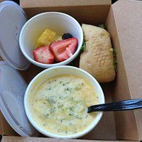 Awesome boxed lunch to-go!