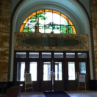 View from inside Watkin's administration building, Winona, MN