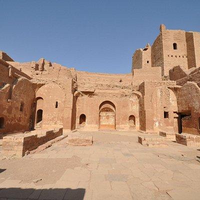 Courtyard left side, Monastery of St. Simeon, May 2013