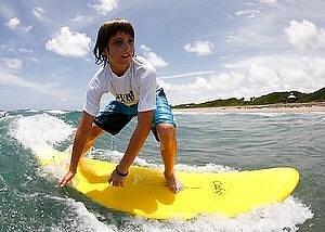 Surf lesson at Deerfield Beach, FL