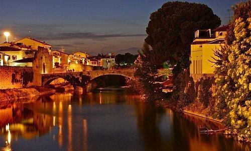 View from river Bisenzio - 1300 century Center Prato