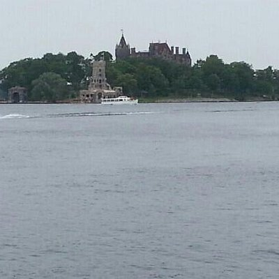 Boldt castle from the park.