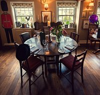 Dining Table number one...lovely large table...lot's of space - just mind your head..!!