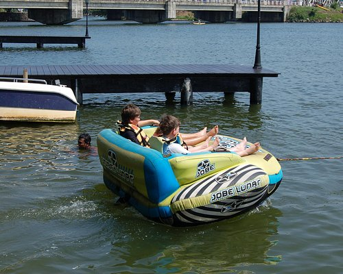 This is great fun for children  - get towed around the river at top speed!