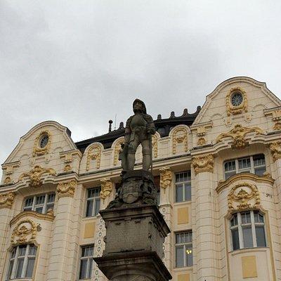 """Maximilian""""s Fountain in the main square of Bratislava"""
