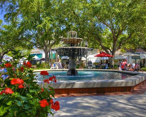 beautiful fountain area