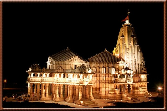 Somnath Temple at night