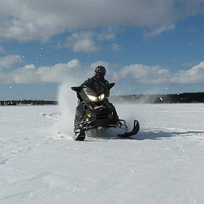 Snowmobiling trip