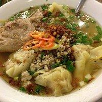 egg noodles with pork and dumplings. sooo good.