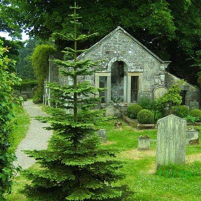 Eggleston's Graveyard and ruined Church.