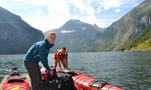Getting ready for 2 day trip with kayak on the Geirangerfjord