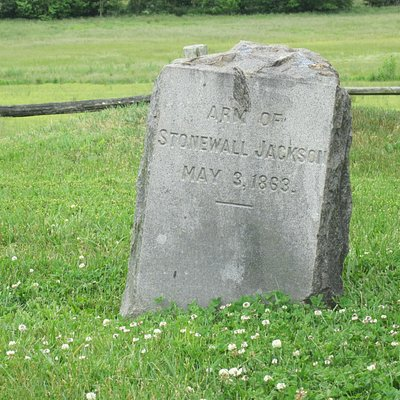 The headstone of Jackson's arm.
