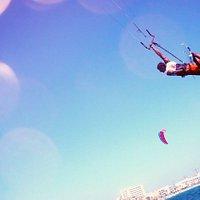 Kitesurf en el Club Nautic Arenal. Mallorca. Llucmajor. Bahia de Palma. Spain.