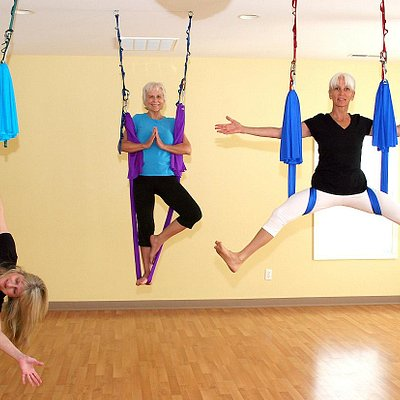 Our aerial instructors, Cindy, Carole and Paulette
