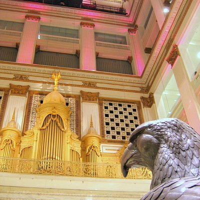 Macy's Grand Court with Wanamaker Organ and Eagle