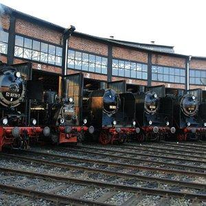 Lokparade im Eisenbahnmuseum Bw Dresden-Altstadt