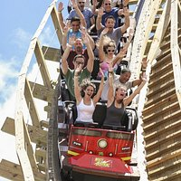 White Lightning (Orlando's only wooder roller coaster)