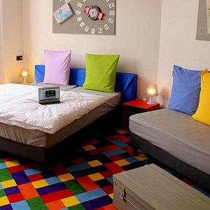 The 'Mille Bornes' room, one of our XL rooms