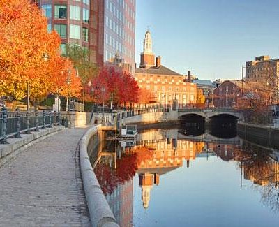 Picturesque Providence River in the Fall