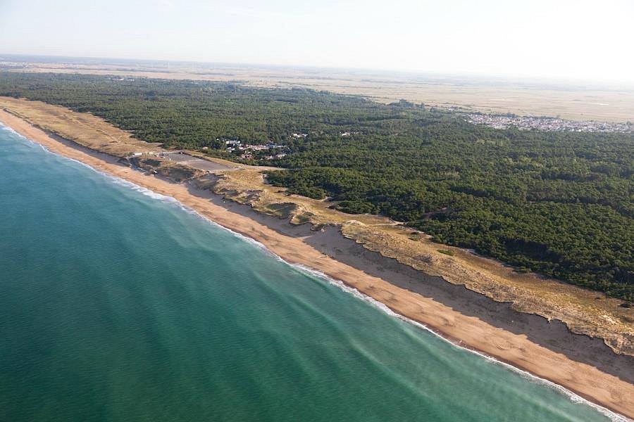 Plage de la Terrière (la Tranche sur mer), vue aérienne