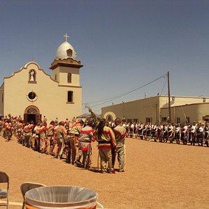 The Tigua tribe built this church centuries ago.