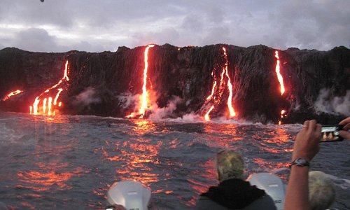 early morning lava viewing