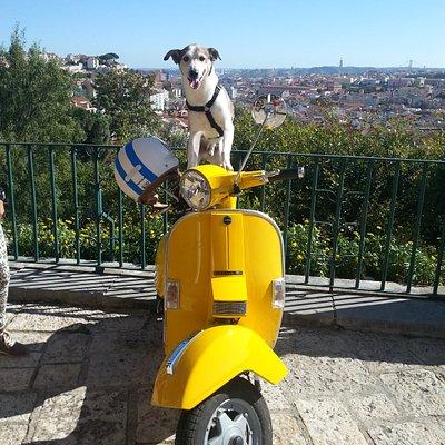 Tobias went to the Monte Agudo lookout point (Lisbon)
