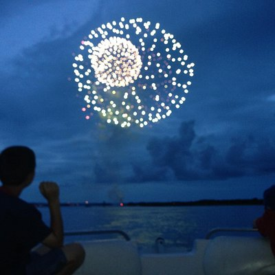 Best seat in the house for watching the fireworks at Shelter Cove!