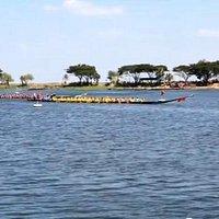 Noing Han long boat racing.