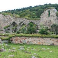 Den imponerande klosterruinen