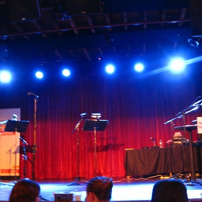 View of the stage