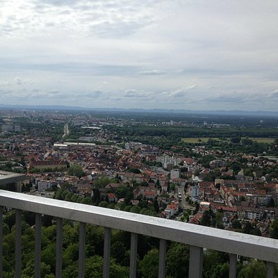 Excellent views over Karlsruhe