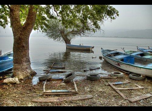 gölyazı'nın meşhur balıkçı tekneleri