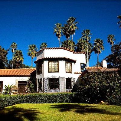 Quinta Mazatlan front facade of the historic adobe home