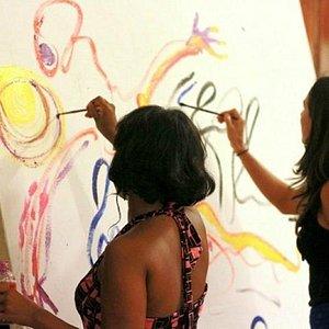 Collaborative painting at BCAC