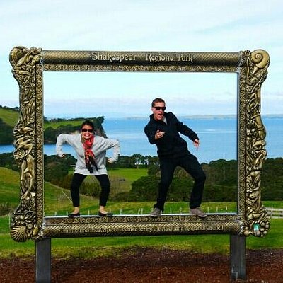 The giant photo frame is great for some creative pictures