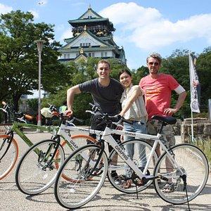 Biking through Osaka Castle Park!